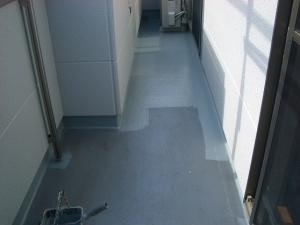 日高市ベランダ防水塗装の施行例
