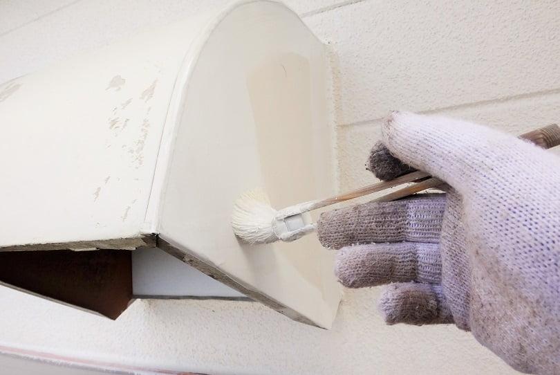 川島町屋根外壁塗装施工例換気フード塗装