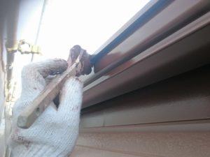川越市屋根外壁塗装施工例雨樋塗装
