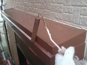 川越市屋根外壁塗装施工例シャッターボックス塗装