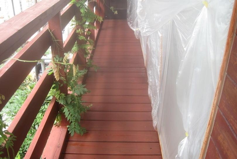 鶴ヶ島市屋根外壁塗装施工例ウッドデッキ塗装