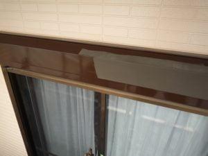 鶴ヶ島市屋根外壁塗装施工例シャッターボックス塗装